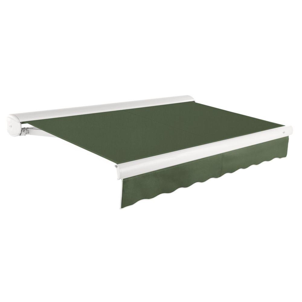 5,49m (18pi) VICTORIA   Auvent rétractable manuel   (Projection 3,05m [10pi])  - Olive