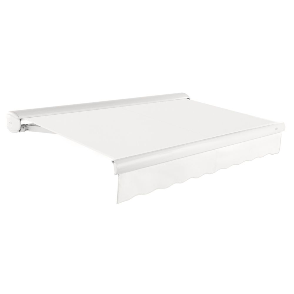16 Feet VICTORIA Manual Retractable Luxury Cassette Awning (10 Feet Projection) - Off-White KWM16-W in Canada