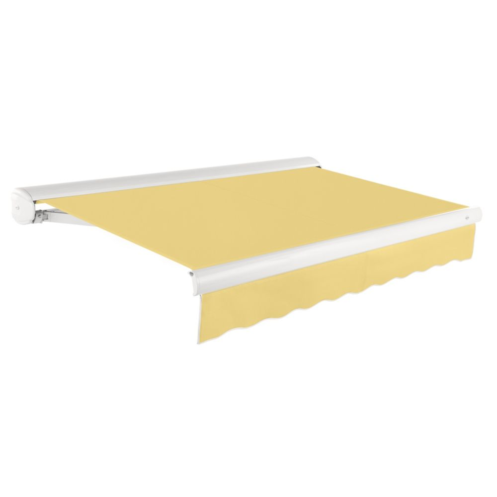 24 Feet VICTORIA Manual Retractable Luxury Cassette Awning (10 Feet Projection) - Light Yellow KWM24-LY Canada Discount