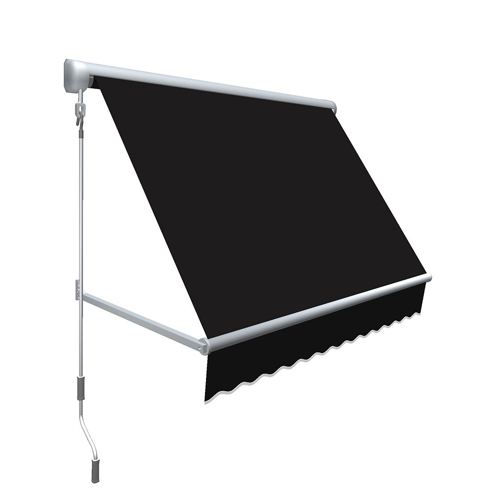 """5 Feet MESA Window Retractable Awning 24"""" height x 24"""" projection - Black"""
