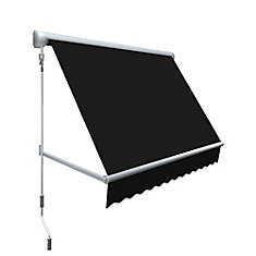 Mesa 6 ft. Retractable Window Awning (24-inch Projection) in Black