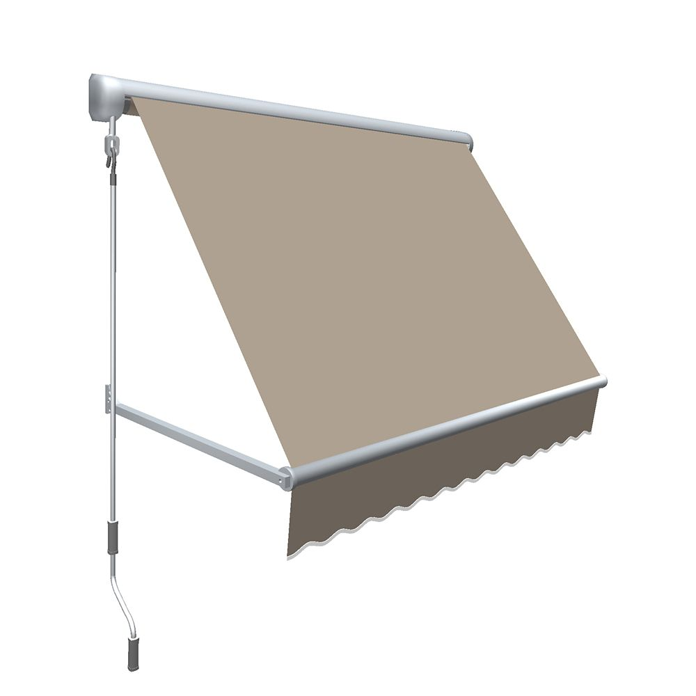 """10 Feet MESA Window Retractable Awning 24"""" height x 24"""" projection - Linen"""