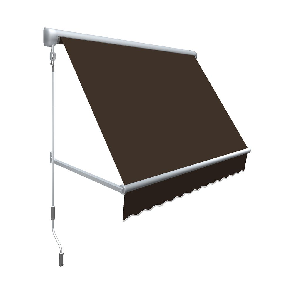 """4 Feet MESA Window Retractable Awning 24"""" height x 24"""" projection - Brown"""