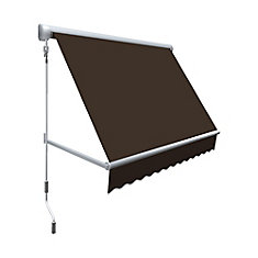 Retractable Window Awning 24 Inch Projection In Brown