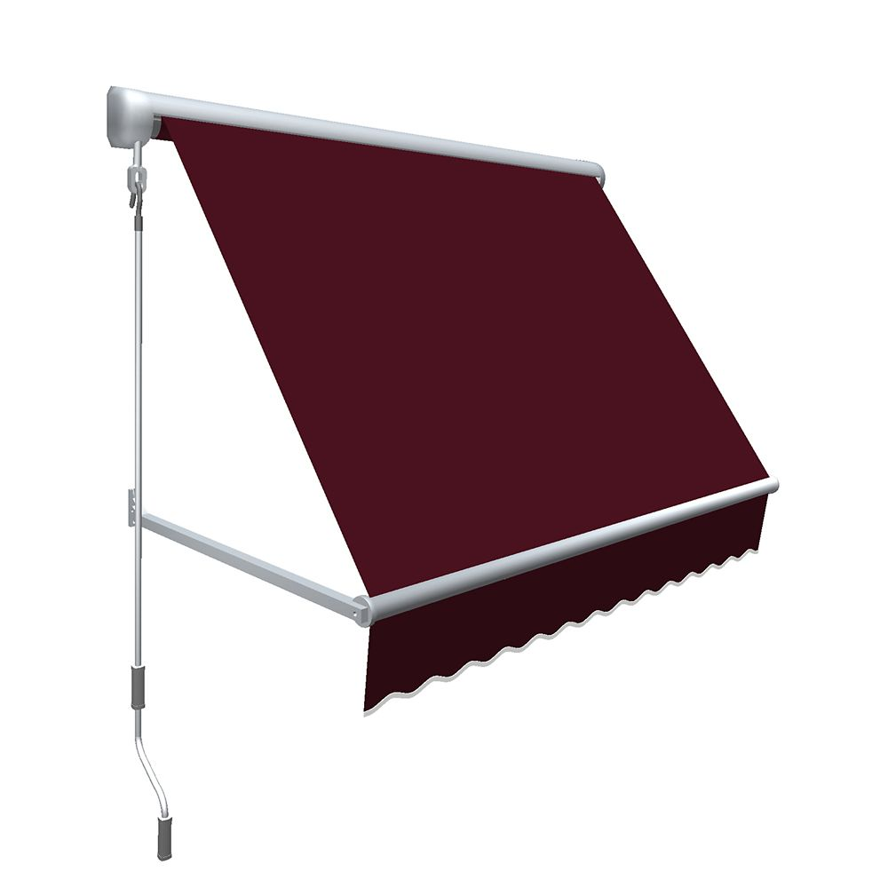 "8 Feet MESA Window Retractable Awning 24"" height x 24"" projection - Burgundy"