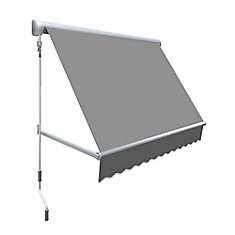 Mesa 9 ft. Retractable Window Awning (24-inch Projection) in Gun Metal Gray