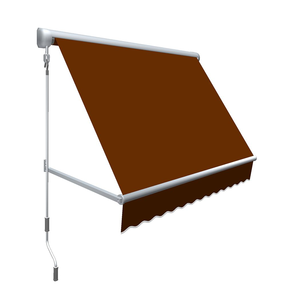 """8 Feet MESA Window Retractable Awning 24"""" height x 24"""" projection - Terra Cotta"""