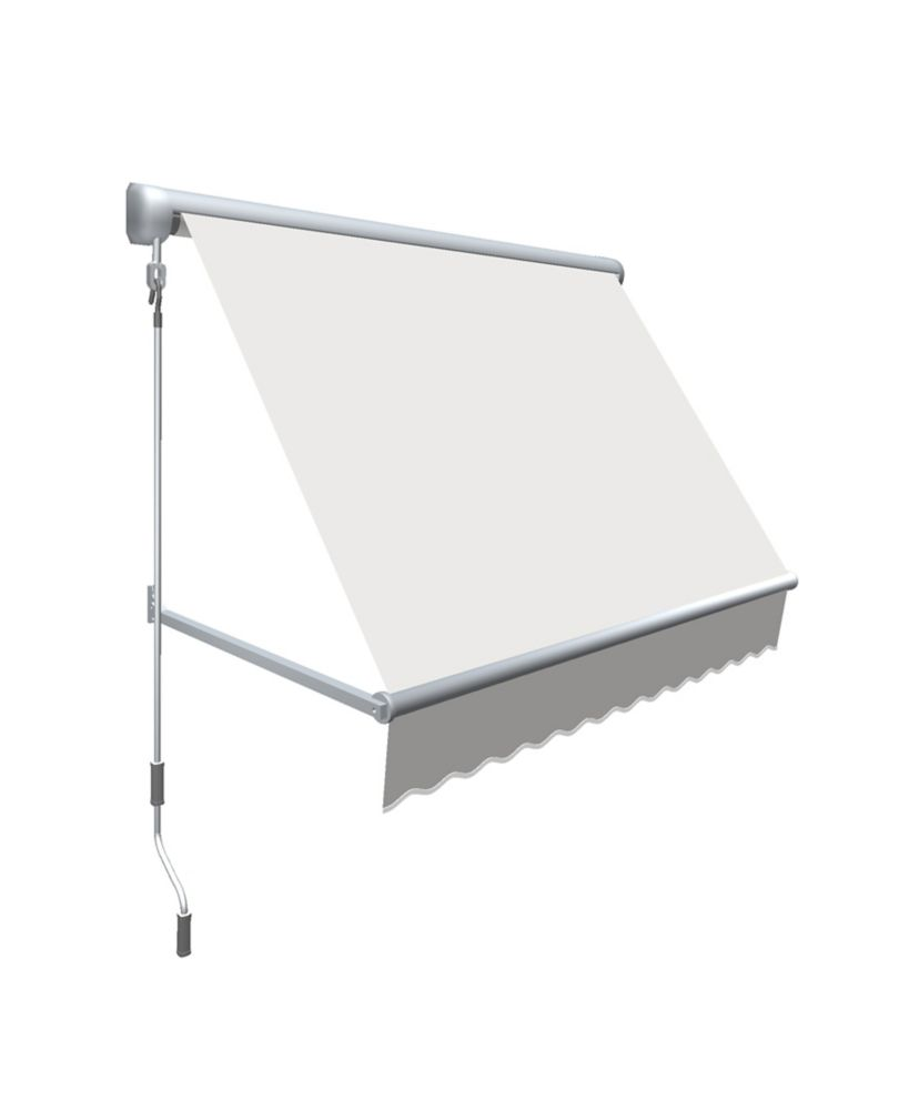 """8 Feet MESA Window Retractable Awning 24"""" height x 24"""" projection - Off-White"""