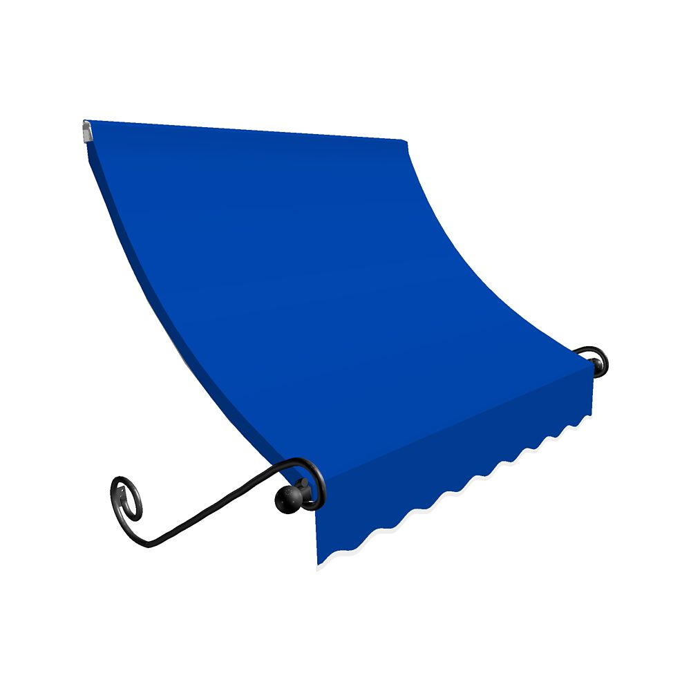 4 Feet Montreal (31 Inch H X 24 Inch D) Window / Entry Awning Bright Blue
