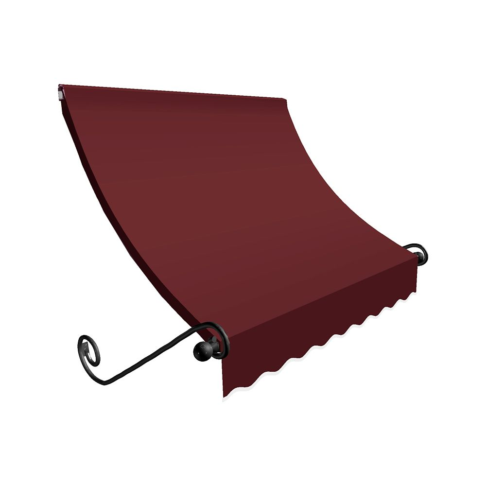 6 Feet Montreal (31 Inch H X 24 Inch D) Window / Entry Awning Burgundy