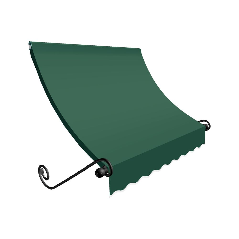 6 Feet Montreal (31 Inch H X 24 Inch D) Window / Entry Awning Forest