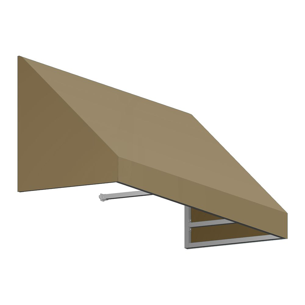 8 Feet Toronto (44 Inch H X 36 Inch D) Window / Entry Awning Tan