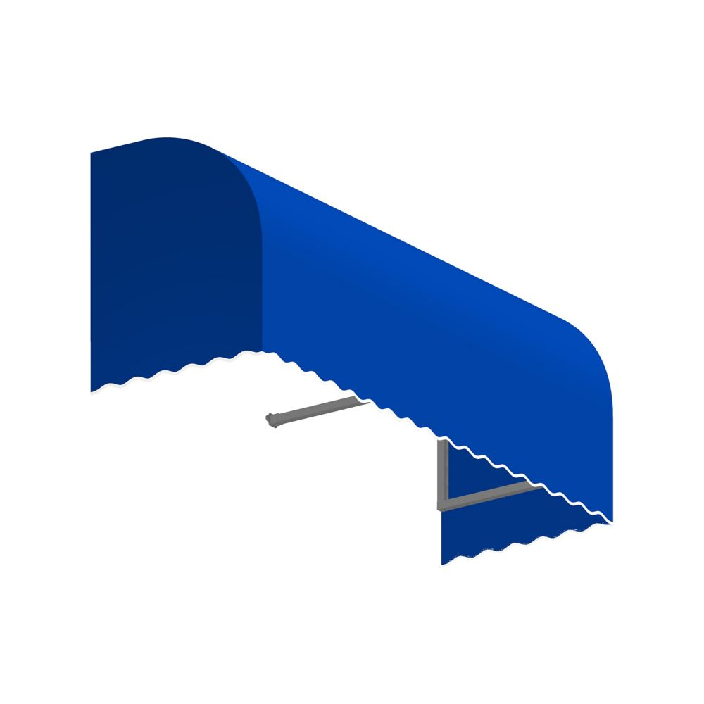 5 Feet Terrebonne (44 Inch H X 36 Inch D) Window / Entry Awning Bright Blue