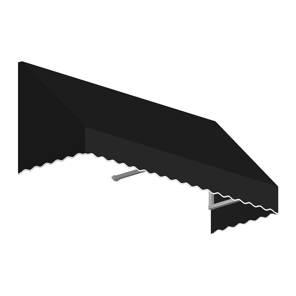 4 Feet Ottawa (18 Inch H X 36 Inch D) Low Eaves / Window / Entry Awning Black
