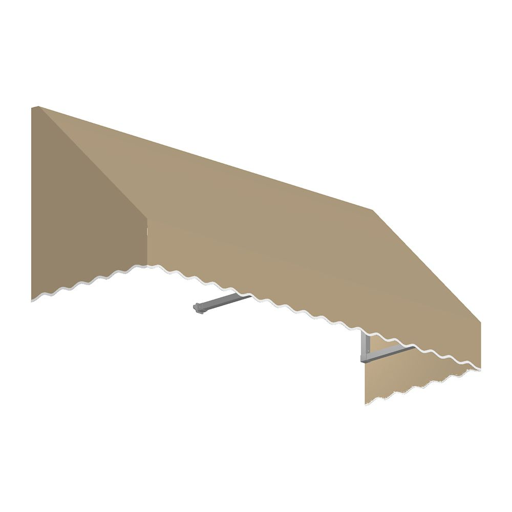 4 Feet Ottawa (18 Inch H X 36 Inch D) Low Eaves / Window / Entry Awning Tan