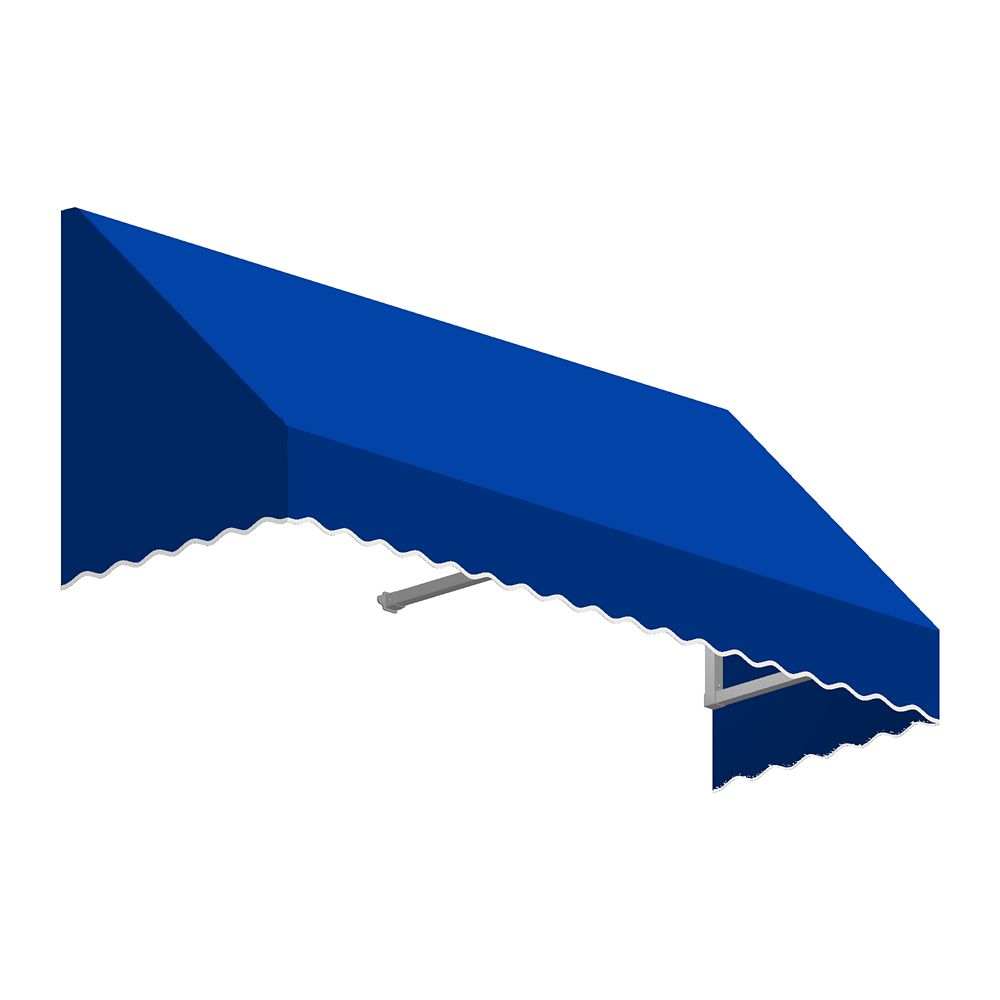 5 Feet Ottawa (18 Inch H X 36 Inch D) Low Eaves / Window / Entry Awning Bright Blue