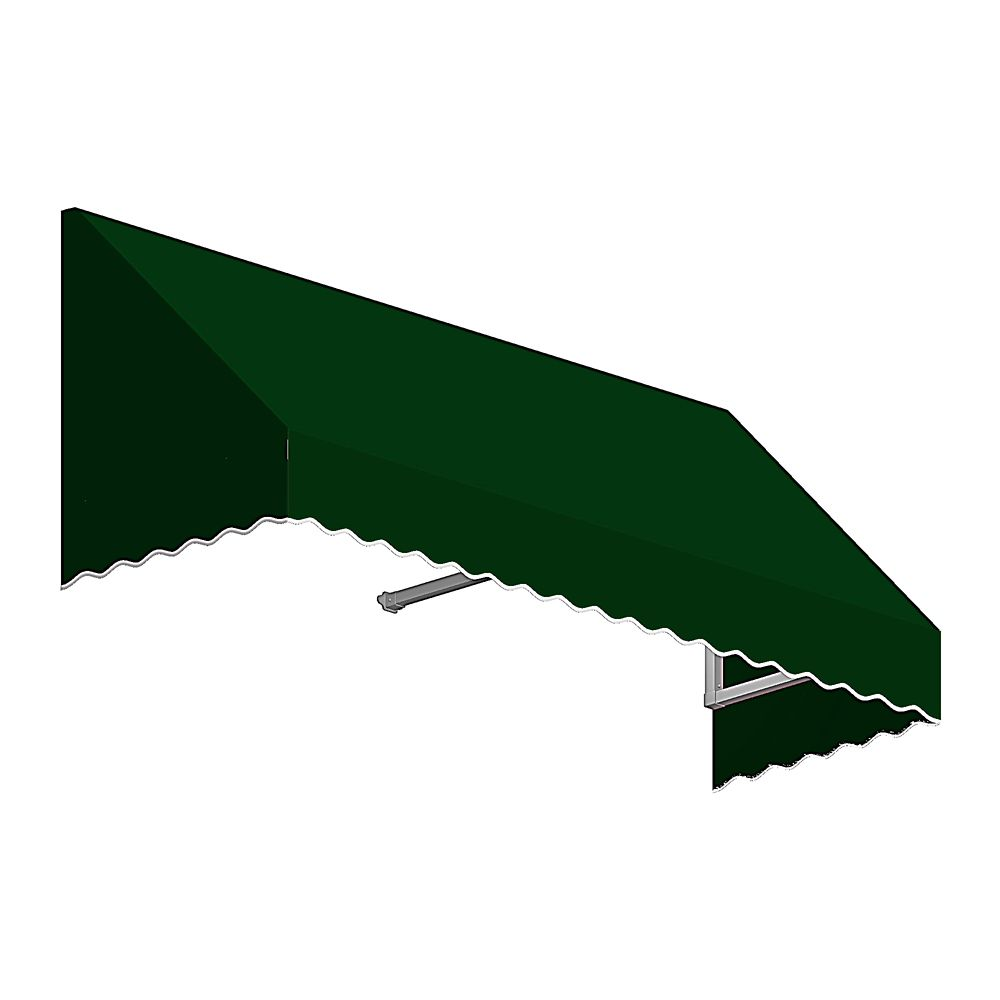 6 Feet Ottawa (18 Inch H X 36 Inch D) Low Eaves / Window / Entry Awning Forest