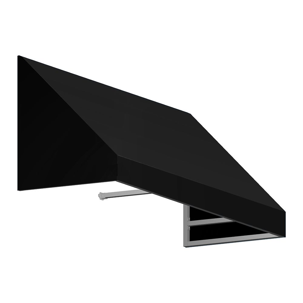 4 Feet Toronto (18 Inch H X 36 Inch D) Low Eaves / Window / Entry Awning Black