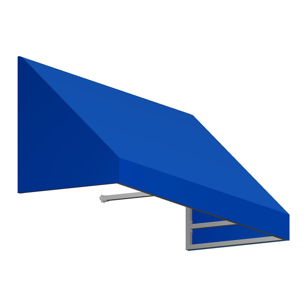 5 Feet Toronto (18 Inch H X 36 Inch D) Low Eaves / Window / Entry Awning Bright Blue
