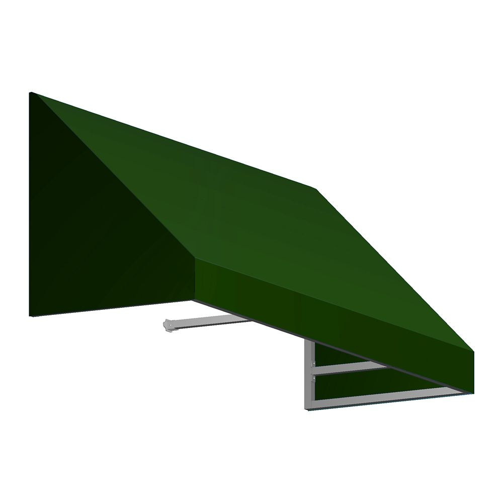 5 Feet Toronto (18 Inch H X 36 Inch D) Low Eaves / Window / Entry Awning Forest
