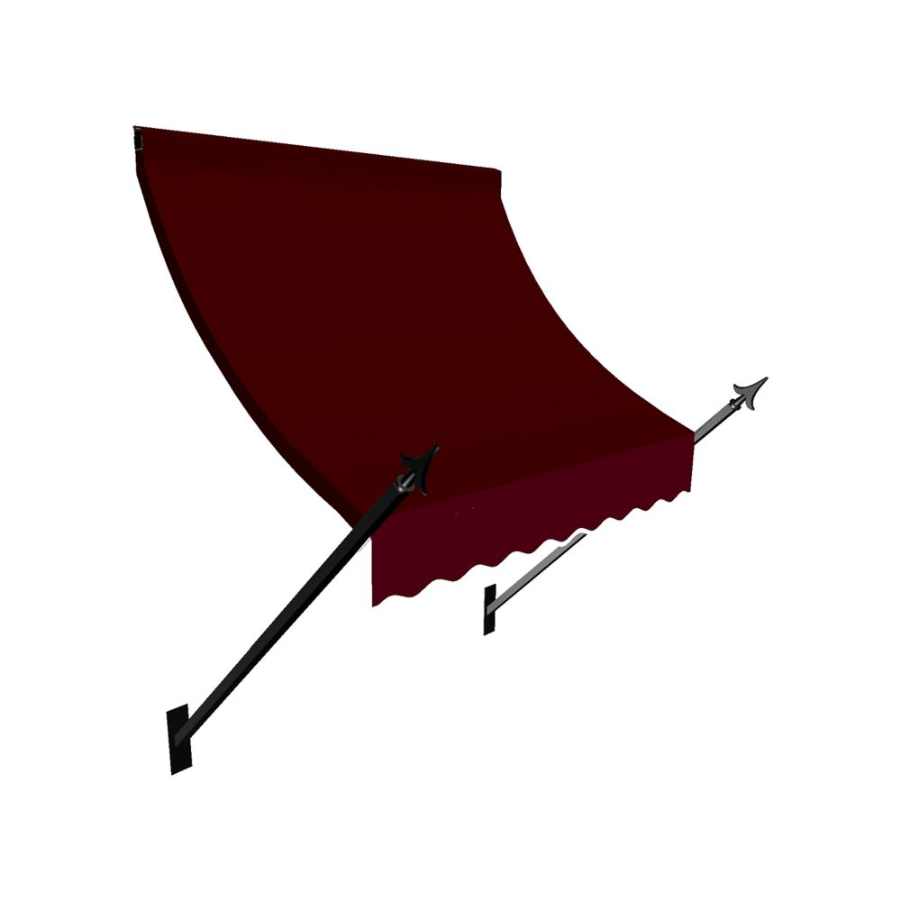 4 Feet New Orleans (44 Inch H X 24 Inch D) Window / Entry Awning Burgundy