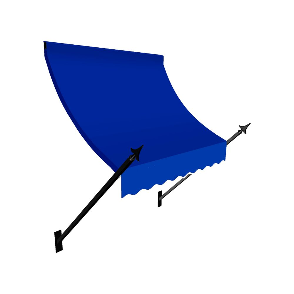 New Orleans 6 ft. Window / Entry Awning (24-inch Projection) in Bright Blue