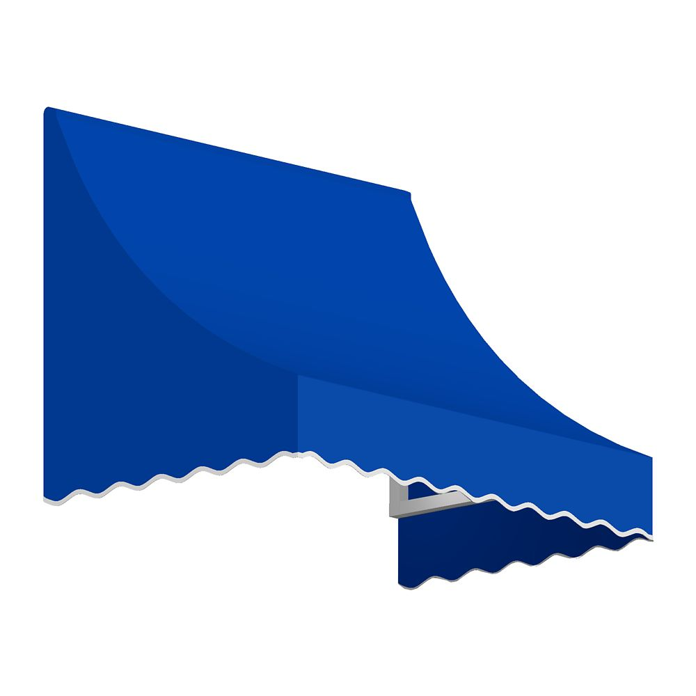 4 Feet Nantucket (31 Inch H X 24 Inch D) Window / Entry Awning Bright Blue