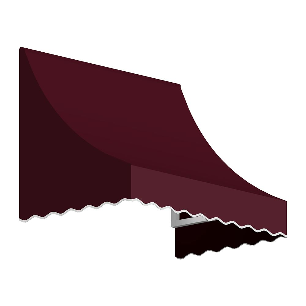 Nantucket 6 ft. Window / Entry Awning (24-inch Projection) in Burgundy