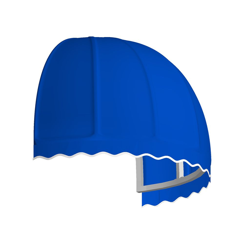 4 Feet Quebec (42 Inch H X 35 Inch D) Window / Entry Awning Bright Blue