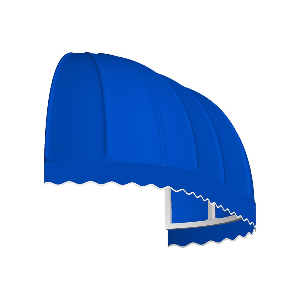 5 Feet Vancouver (31 Inch H X 24 Inch D) Window / Entry Awning Bright Blue
