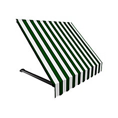 Winnipeg 3 ft. Window / Entry Awning (24-inch Projection) in Forest / White Stripe