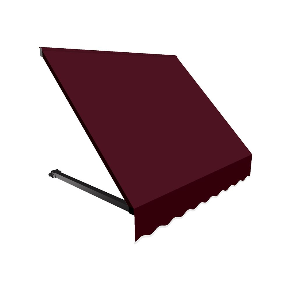 4 Feet Winnipeg (31 Inch H X 24 Inch D) Window / Entry Awning Burgundy