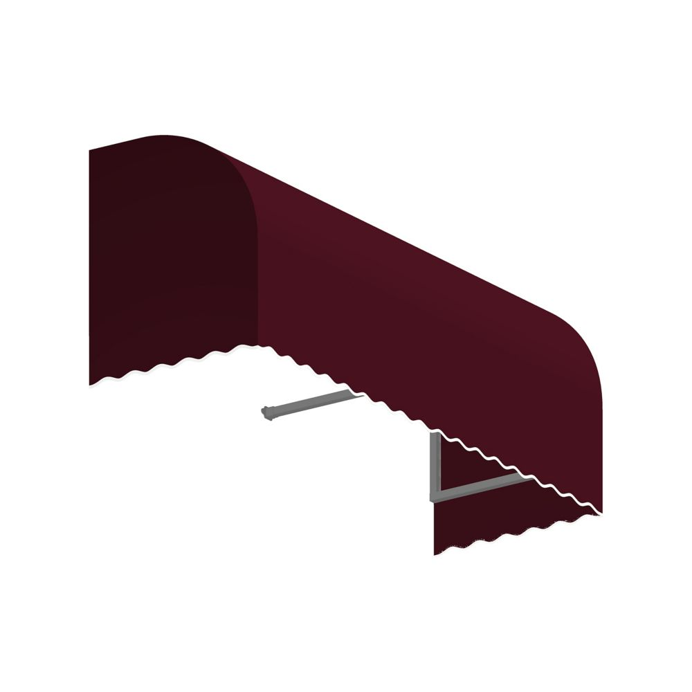 5 Feet Terrebonne (31 Inch H X 24 Inch D) Window / Entry Awning Burgundy