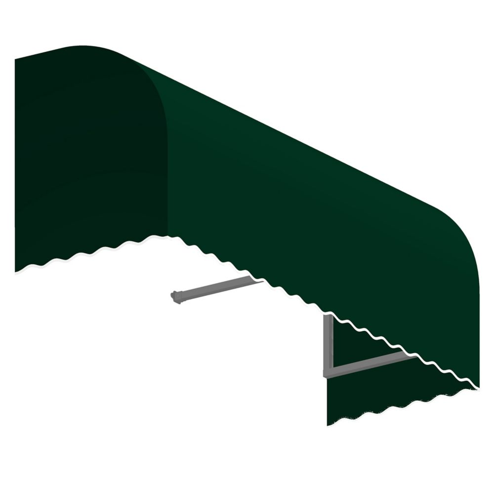 5 Feet Terrebonne (31 Inch H X 24 Inch D) Window / Entry Awning Forest