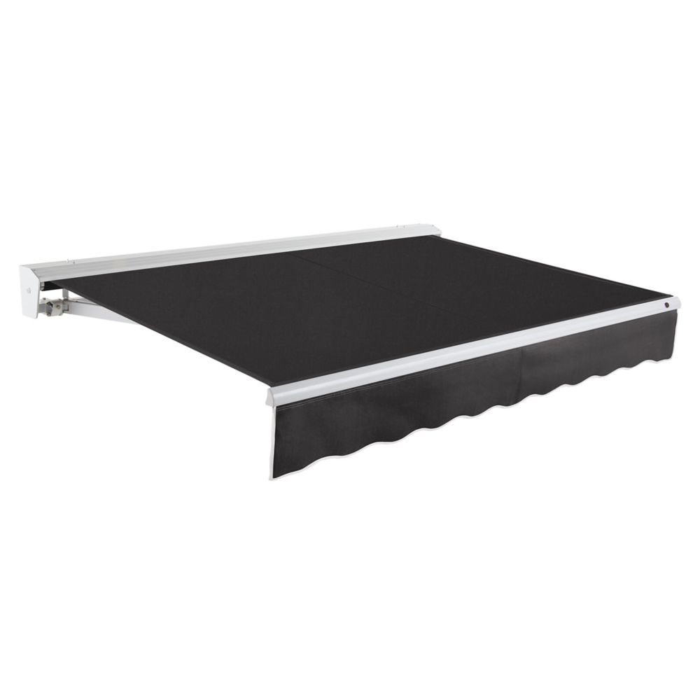 12 Feet DESTIN (10 Feet Projection) Manual Retractable Awning with Hood - Black