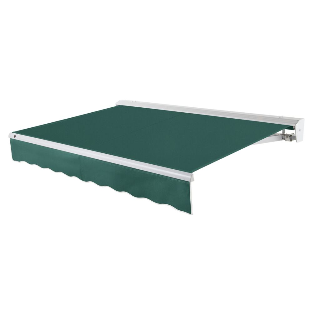 24 Feet DESTIN (10 Feet Projection) Motorized (left side) Retractable Awning with Hood - Forest
