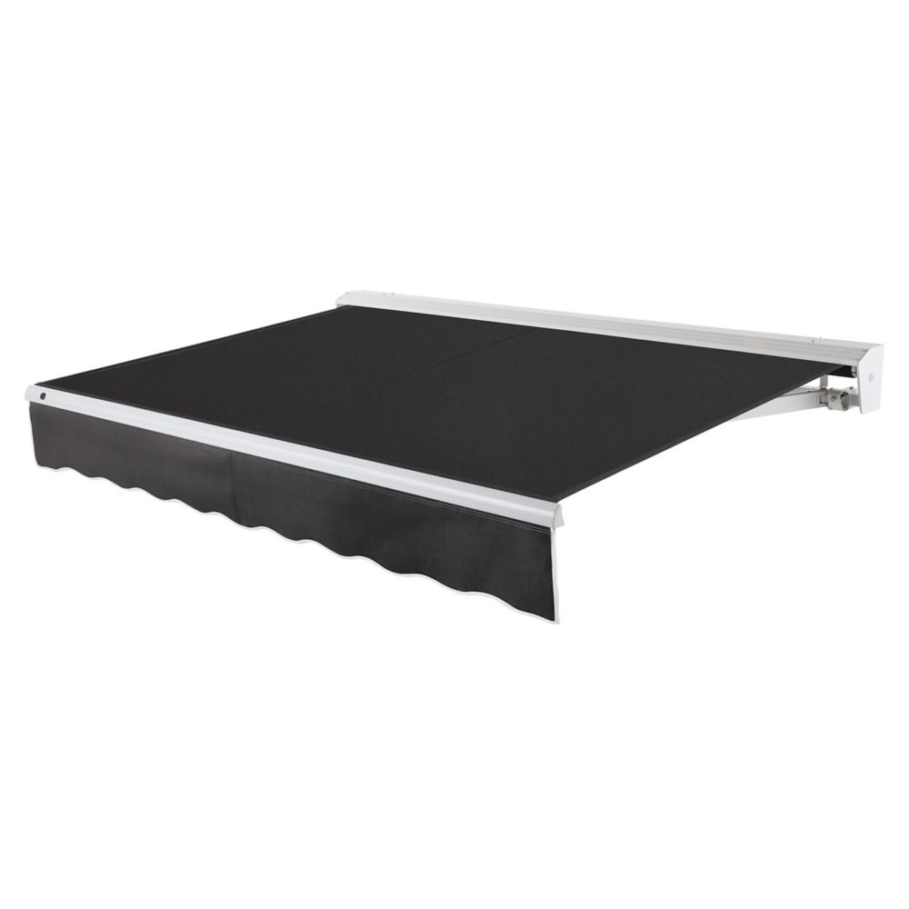 24 Feet DESTIN (10 Feet Projection) Motorized (left side) Retractable Awning with Hood - Black