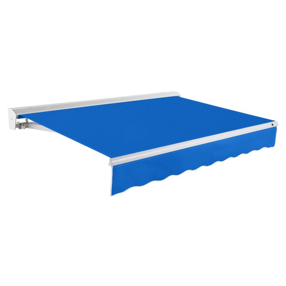 Beauty-Mark  7,32m (24pi) DESTIN   Auvent rétractable motorisé   (Projection 3,05m [10pi]) (moteur droit)  - Bleu vif