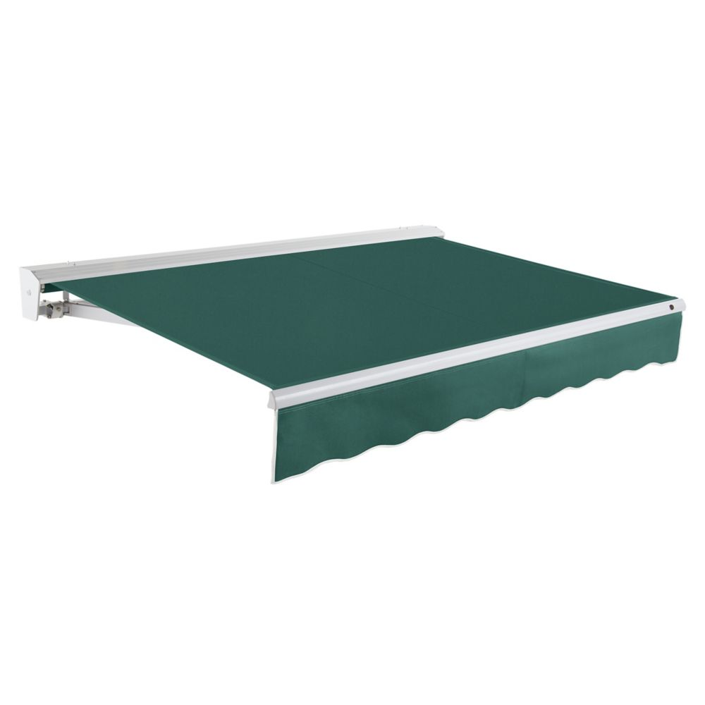24 Feet DESTIN (10 Feet Projection) Motorized (right side) Retractable Awning with Hood - Forest