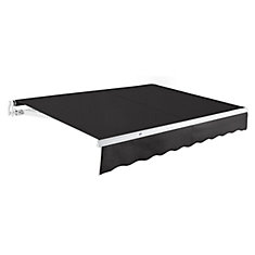 Maui 10 ft. Manual Retractable Awning (8 ft. Projection) in Black