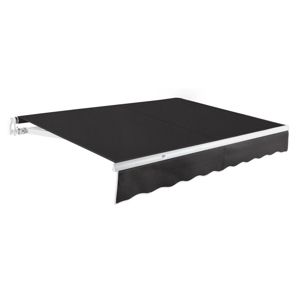 10 Feet MAUI (8 Feet Projection) Manual Retractable Awning - Black