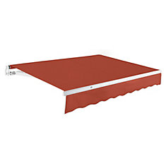 Maui 12 ft. Manual Retractable Awning (10 ft. Projection) in Terra Cotta