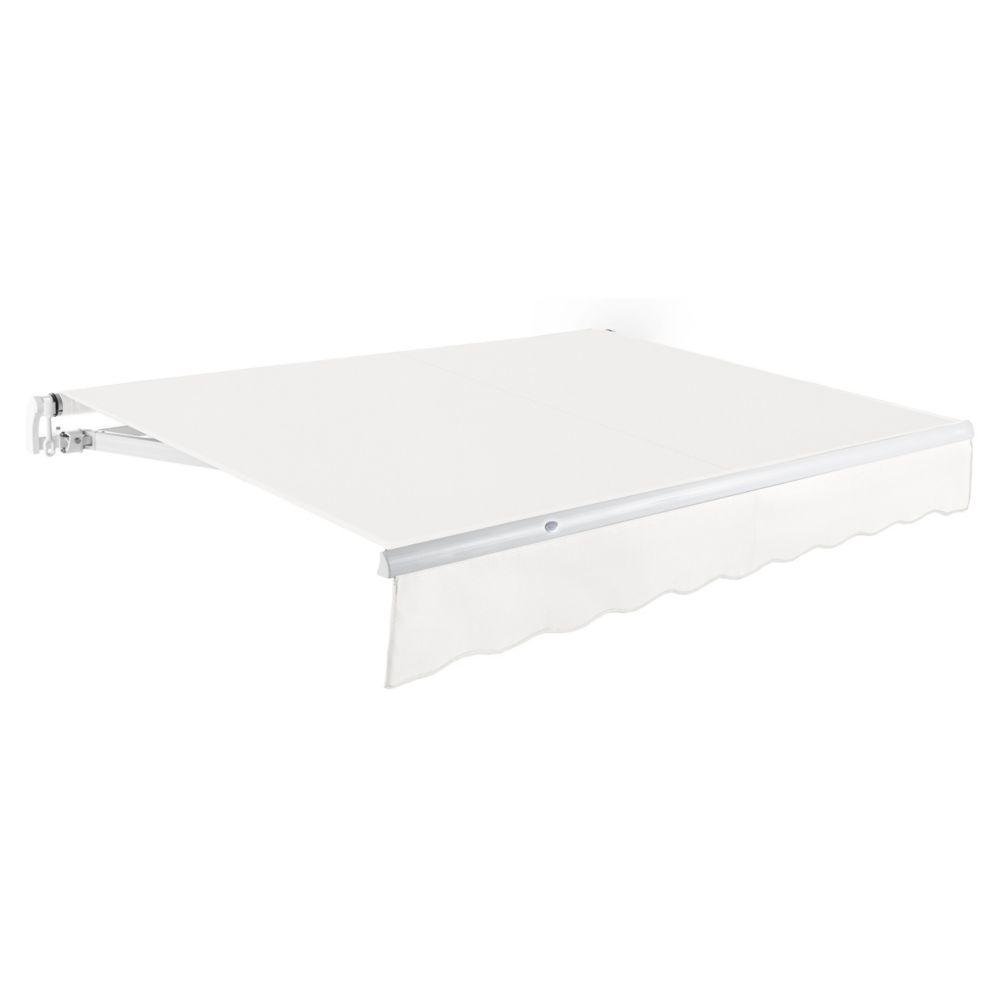 3,66m (12pi) MAUI   Auvent rétractable manuel   (Projection 3,05m [10pi])  - Blanc cassé