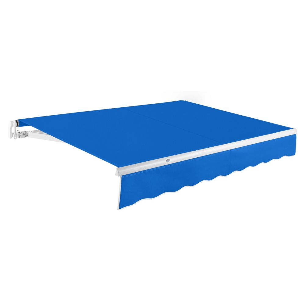 16 Feet MAUI (10 Feet Projection) Manual Retractable Awning - Bright Blue