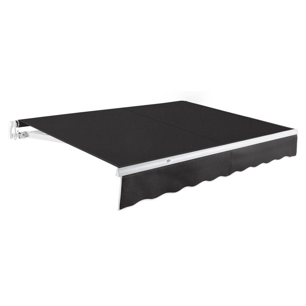 2,44m (8pi) MAUI   Auvent rétractable manuel   (Projection 2,13m [7pi])  - Noir