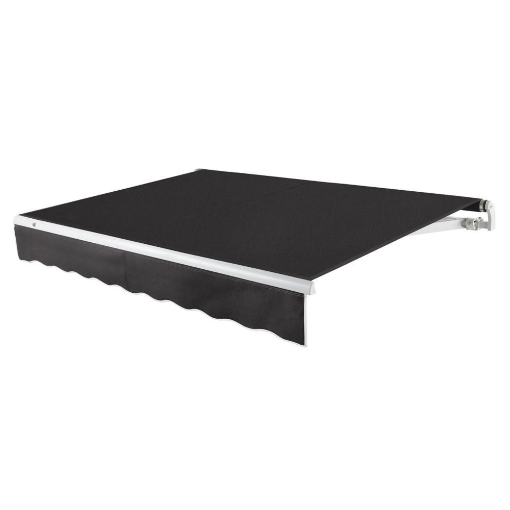 12 Feet MAUI (10 Feet Projection) - Motorized Retractable Awning (Left Side Motor) - Black