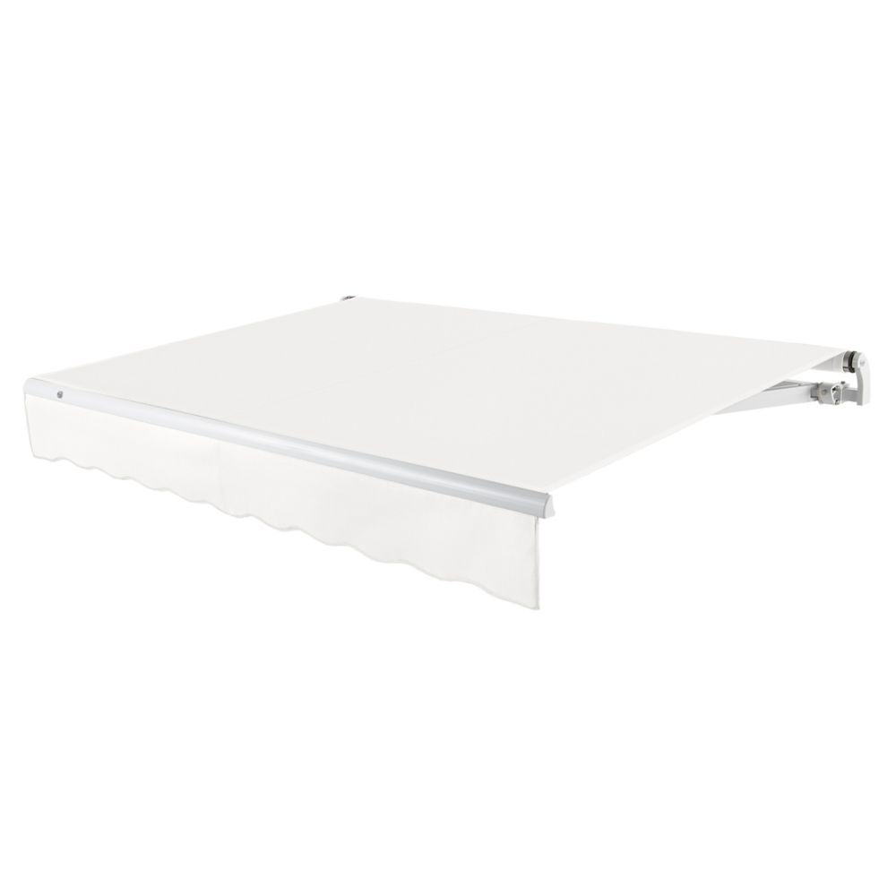 12 Feet MAUI (10 Feet Projection) - Motorized Retractable Awning (Left Side Motor) - Off-White