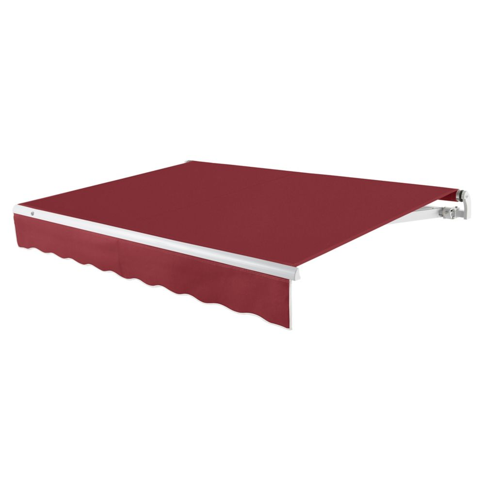 18 Feet MAUI (10 Feet Projection) Manual Retractable Awning - Burgundy