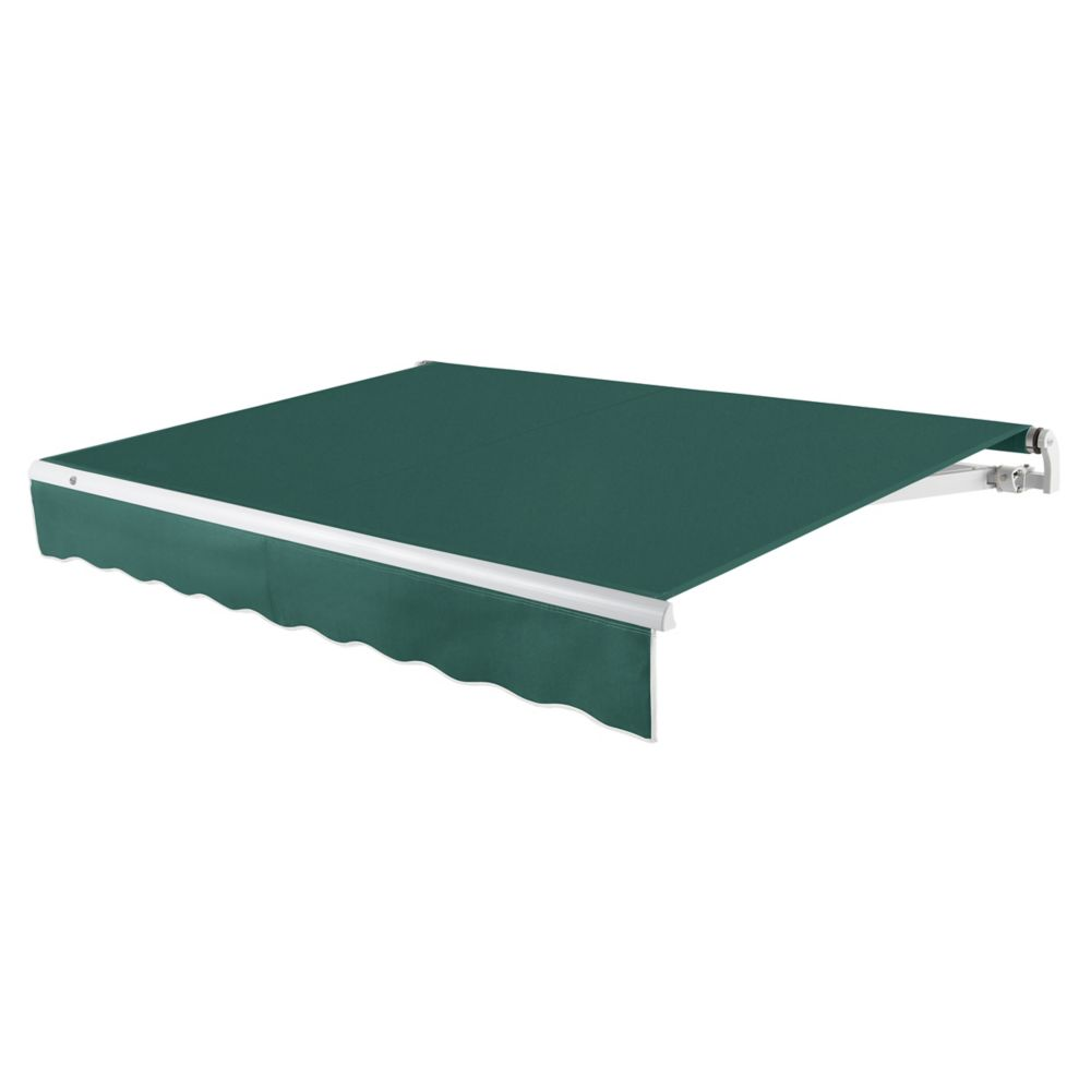 24 Feet MAUI (10 Feet Projection) - Motorized Retractable Awning (Left Side Motor) - Forest