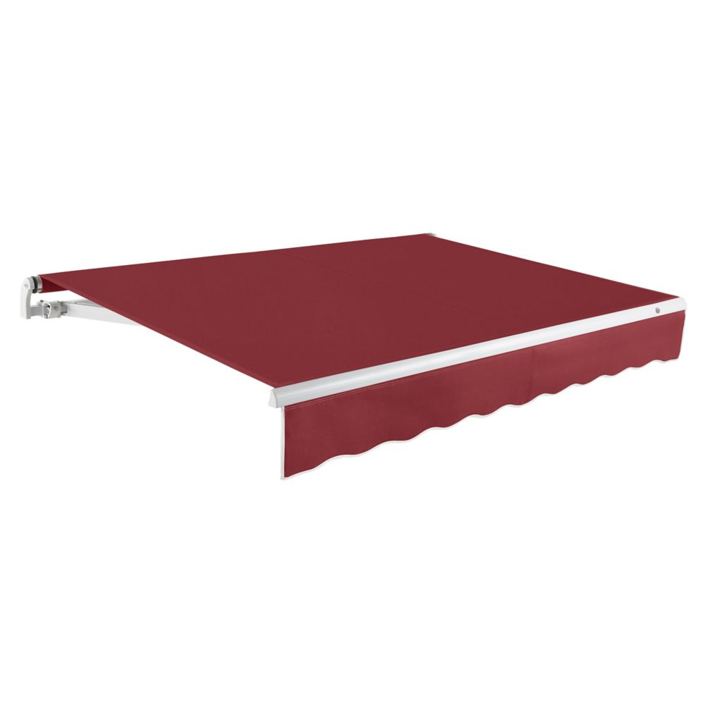 Maui 12 ft. Motorized Retractable Awning (10 ft. Projection) (Right Side Motor) in Burgundy